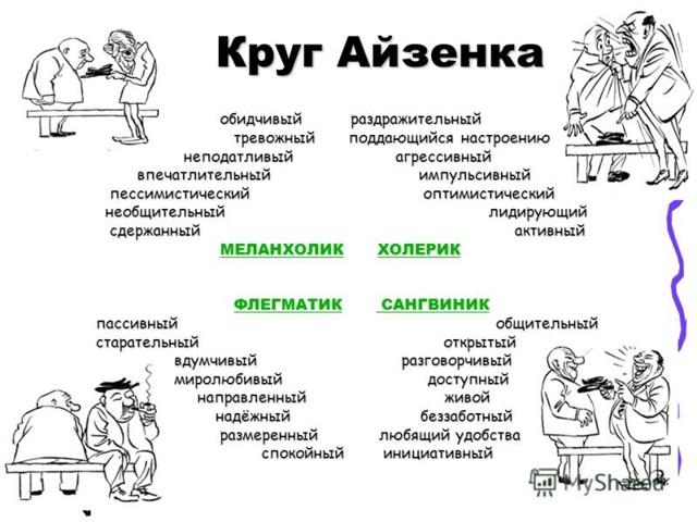 Типы темперамента человека и их характеристика кратко